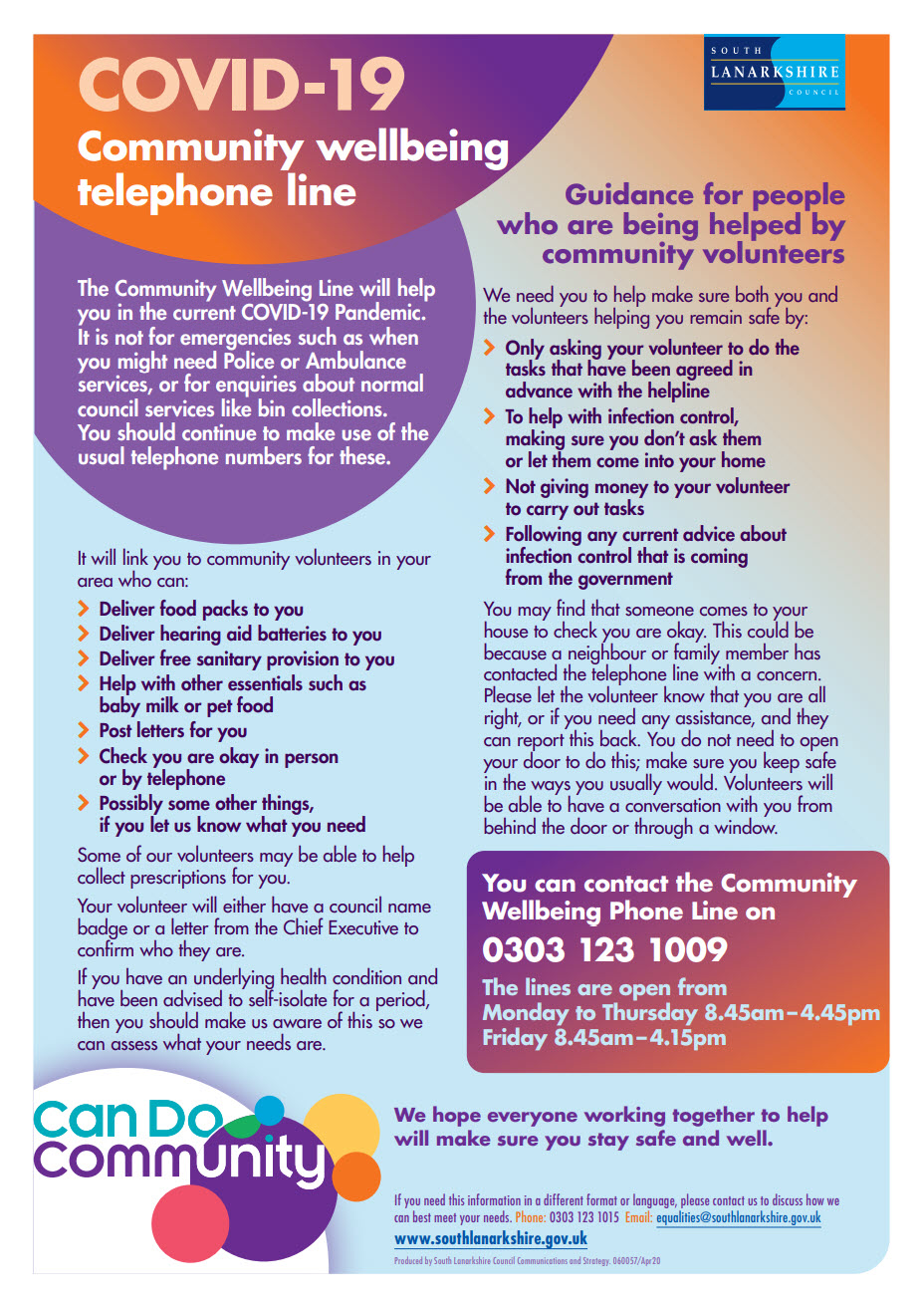 Community Wellbeing Telephone Line