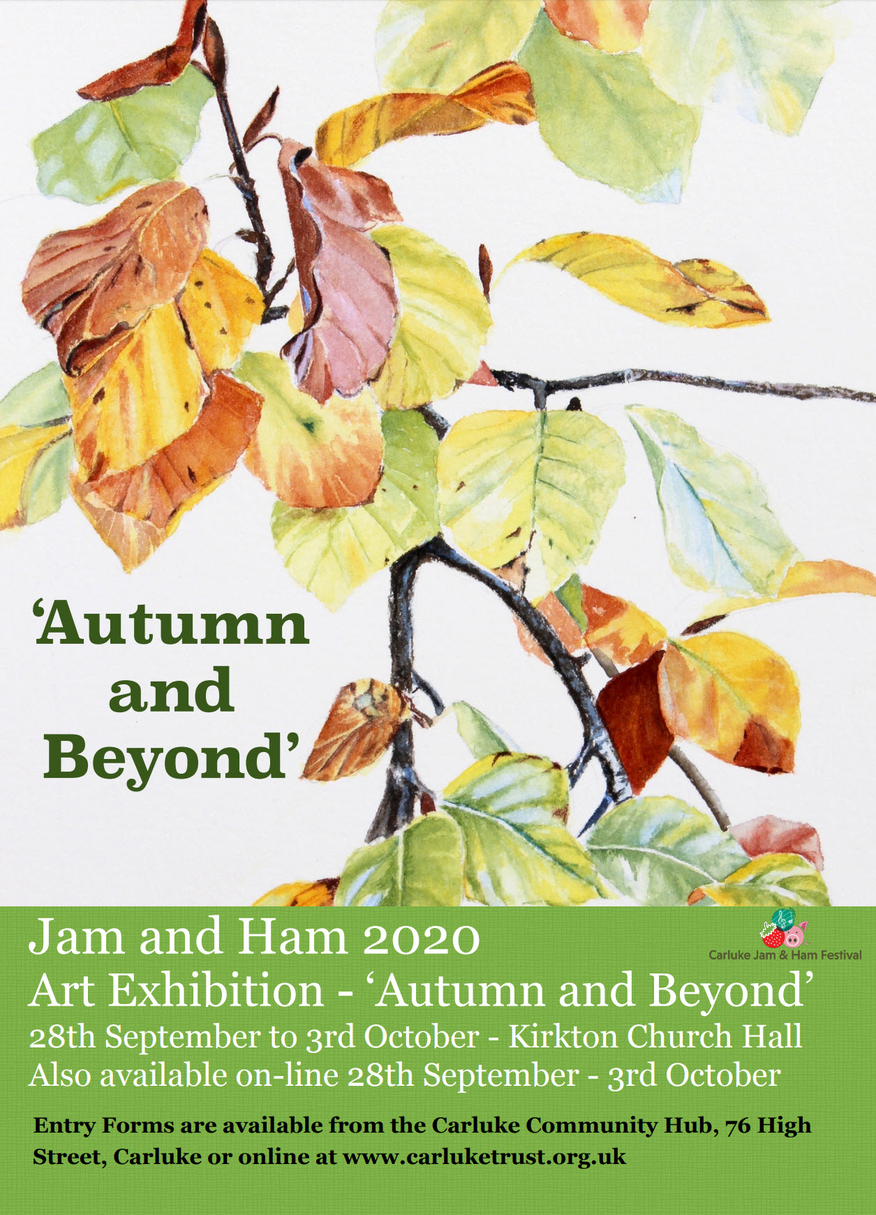 Get involved with the Jam and Ham 2020 Art Exhibition! – 'Autumn and Beyond'