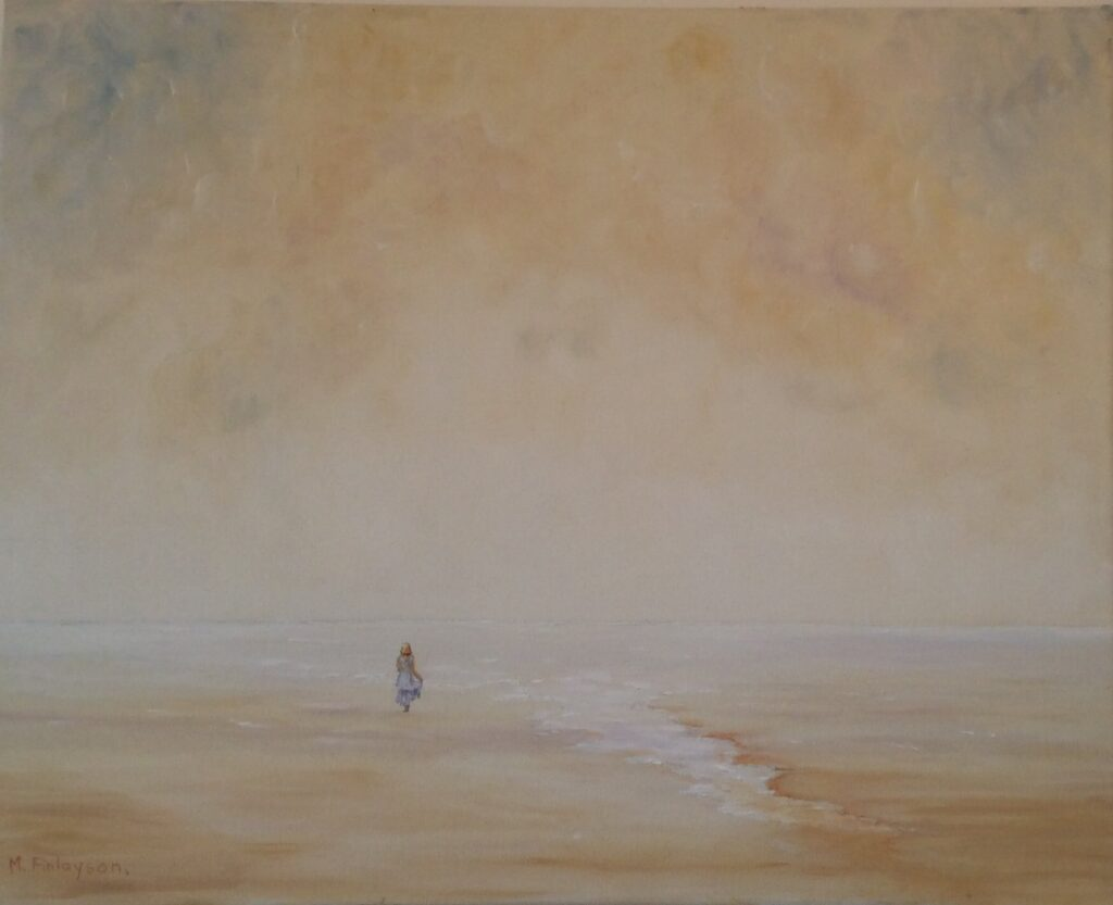 Evelyn Mcewan – FINLAYSON Mary Morning walk on the sand@2x