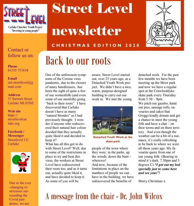 Street Level – Newsletter December 2020