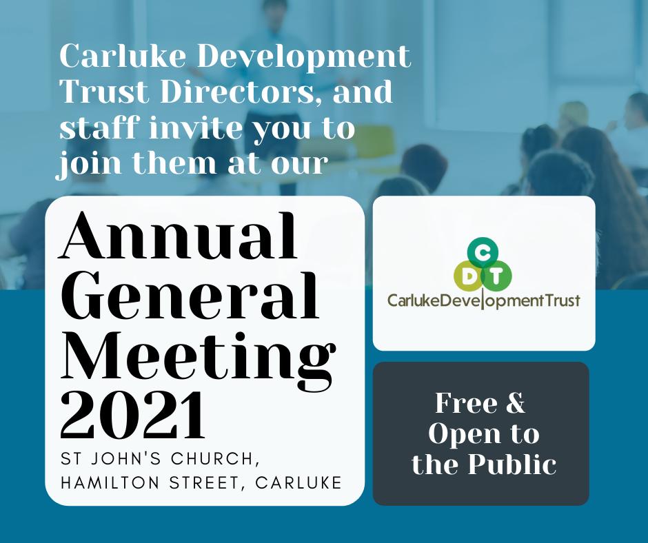Carluke Development Trust Annual General Meeting